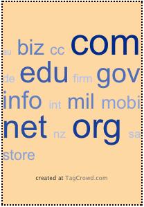 .biz .com .edu .org .net .gov .info .mil