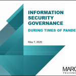 Information Security Governance in Times of Pandemic